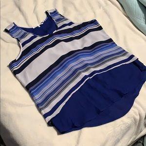 Pretty blue striped blouse
